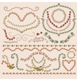 Floral laurels ribbons wreaths vector