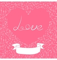 Valentines day card with hearts and arrows vector