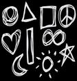 Hand-drawn symbols vector