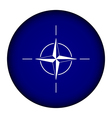Button with flag of nato vector