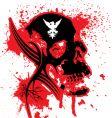 Explode skull vector