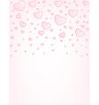 Valentine card hearts background vector