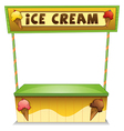 An ice cream stand vector