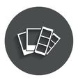 Photo frame template icon strips vector