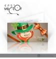 St patricks day leprechaun face vector