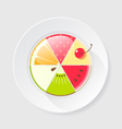 Fruit cake icon vector
