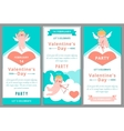 Valentines day party design templates vector