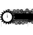 Gears banner with clock vector