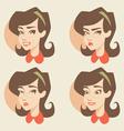 Cartoon girl face vector