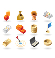 Isometric-style icons for awards vector