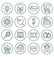 St valentines day line icon set love wedding or vector