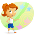 Cartoon sports girl vector