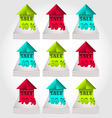 Modern colorful price labels and tags vector