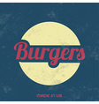 Retro food sign vintage background vector
