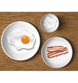 Morning breakfast bacon and eggs vector