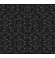 Seamless pattern of overlap black circles vector