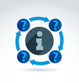 Information exchange theme icon call center vector