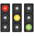 Traffic light three coloured vector