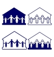 House with family symbols vector