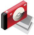 Red camera vector