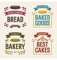 Retro bakery labels vector