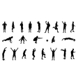 Set of silhouettes of people involved in sports vector