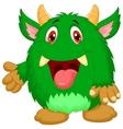 Cute green monster cartoon vector