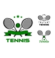 Tennis sport badges and emblems vector