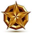 Royal golden geometric symbol stylized golden star vector