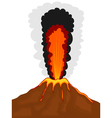 Volcano cartoon vector