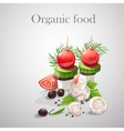 Background with fresh vegetables tomatoes vector
