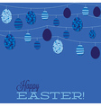 String of retro easter eggs in format vector