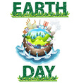 Earth day theme vector