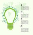 Go green concept save world vector