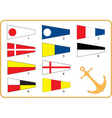 Nautical flags vector