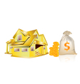 House and money vector