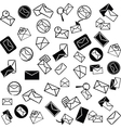 Mail icons background vector
