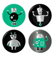 Retro robots collection vector