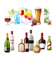 Alcohol borders vector