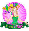 Mardi gras design vector