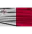 Flag of malta with old texture vector