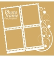 Frame with floral elements for four photos vector