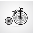 Abstract old vintage bicycle bike isolated on vector