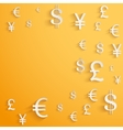 Business background with money currency symbols vector