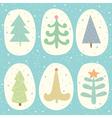 Doodle christmas tree set vector