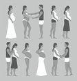 Pregnant woman with a man vector