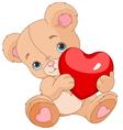 Valentines teddy bear vector