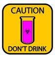 Danger chemicals sign vector