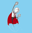 Simple business people superhero vector