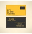 Business card template made in yellow and gray vector
